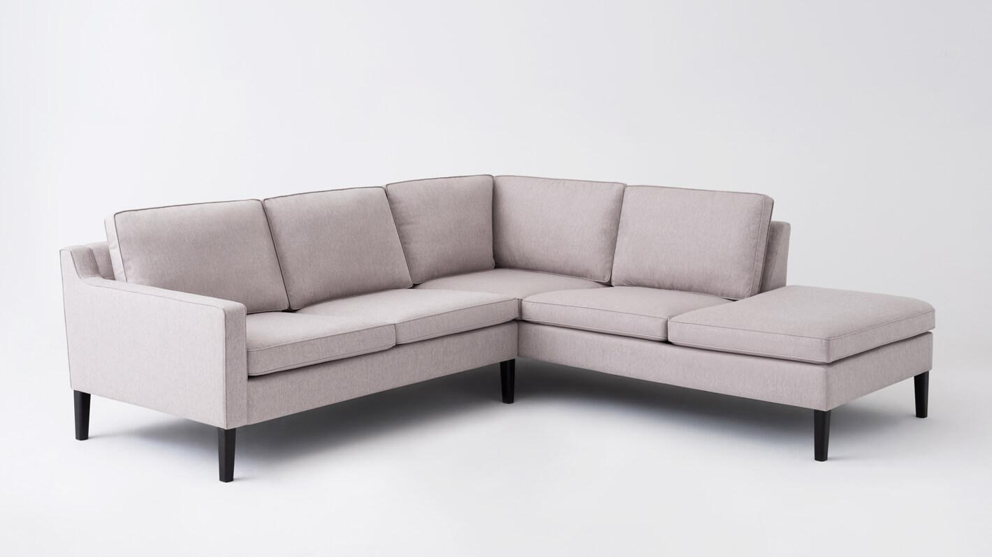 Skye 2-piece sectional sofa with Corner Chaise - Fabric | EQ3